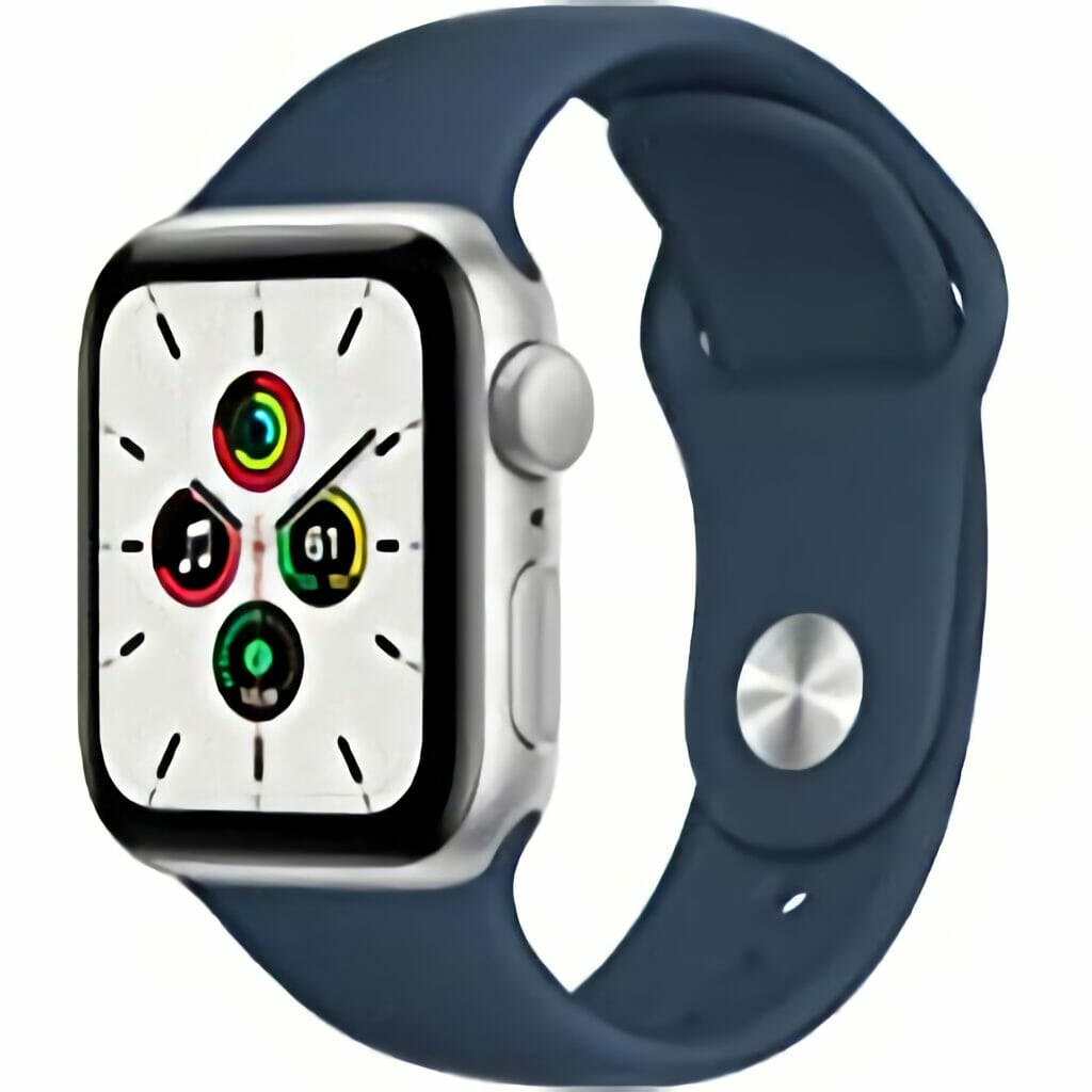Apple Watch SE (GPS, 40mm) - Silver Aluminum Case with Abyss Blue Sport Band