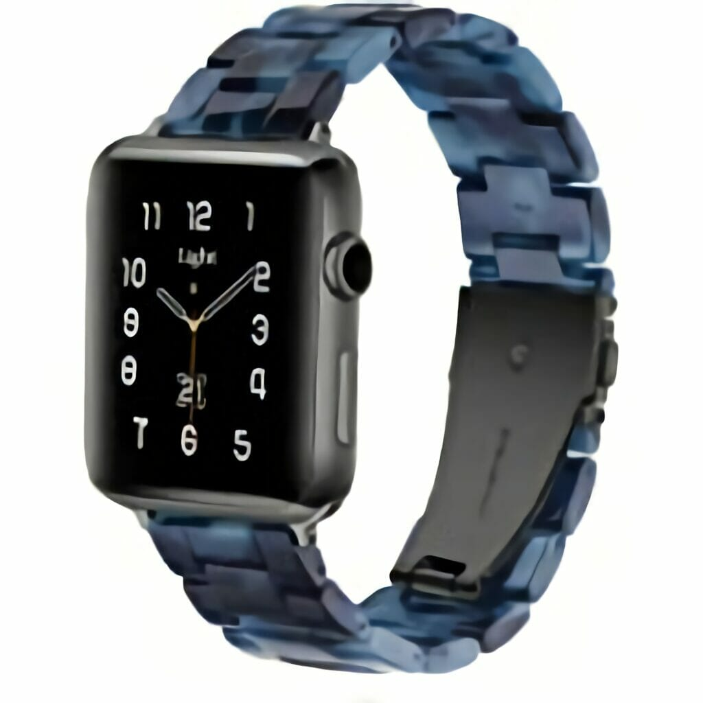 Light Apple Watch Band - Fashion Resin iWatch Band Bracelet Compatible with Stainless…